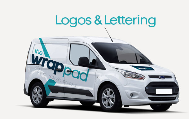 Logos and lettering for vehicle