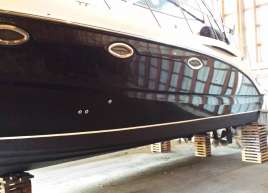 Gloss Black Luxury Boat Wrap