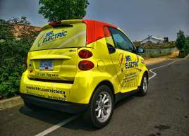 Mr. Electric Smart Car Wrap