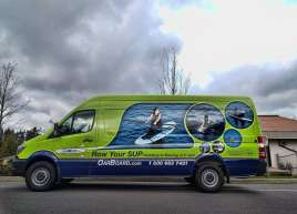 Row Your Board Van Wrap