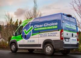 Clear Choice Plumbing & Heating Van Wrap
