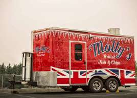 Mollys Fish & Chips Trailer Wrap