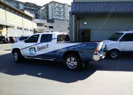 Select Janitorial Truck Wrap