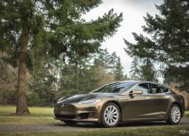 Tesla Model S Gold Wrap