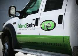 Island Earth Truck Wrap