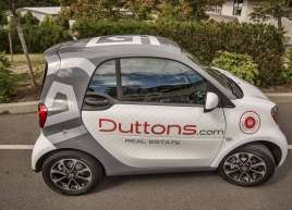 Duttons Smart Car Wrap