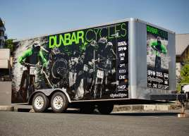 Dunbar Cycles Trailer Wrap