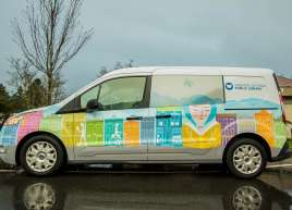 Greater Victoria Public Library Van Wrap