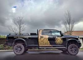 Metallic Truck Wrap