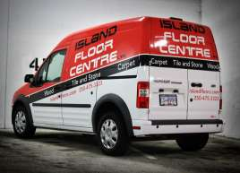 Island Floor Centre Van Wrap