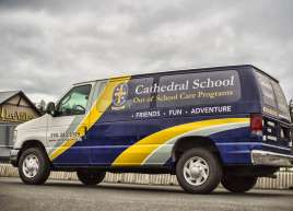 Catherdral School Van Wrap